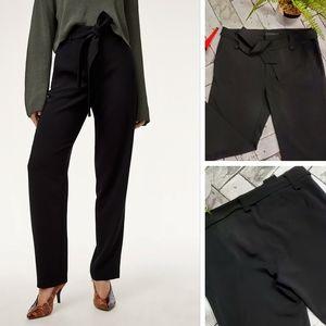 Ninety High Tie Waist Black Trouser Pants 12 (S)